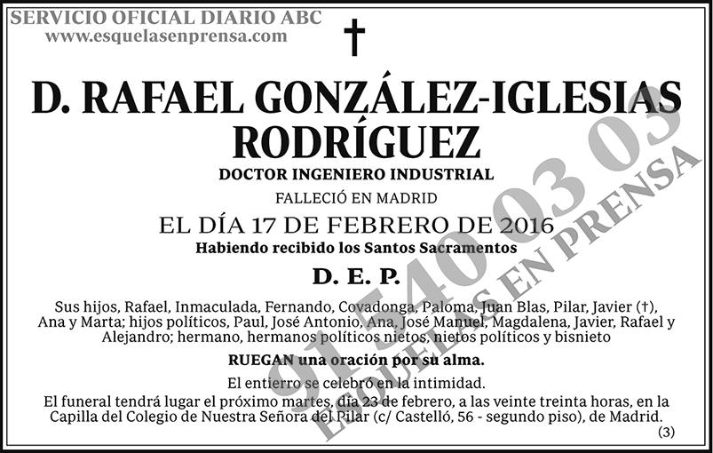 Rafael González-Iglesias Rodríguez